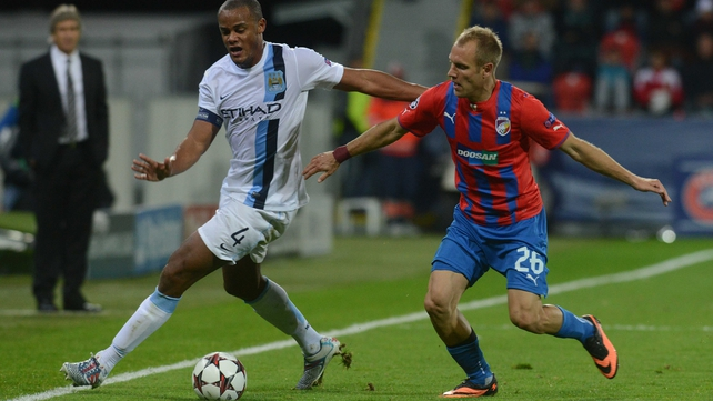 Vincent Kompany returned to the City team against Viktoria Plzen after injury lay off