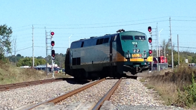 The train was heading to Toronto when the crash happened