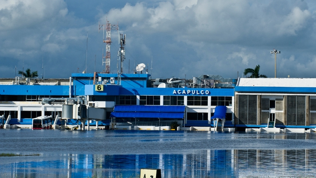 Acapulco's terminal was under water