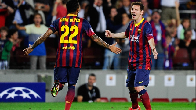 Lionel Messi hit a hat-trick for Barcelona tonight