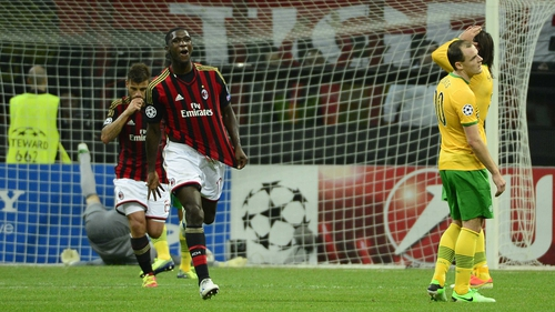 Cristian Zapata helped Milan to an undeserved victory over Celtic