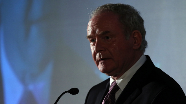 Martin McGuinness was invited to give the lecture by the father of one of the victims of the Warrington bombings