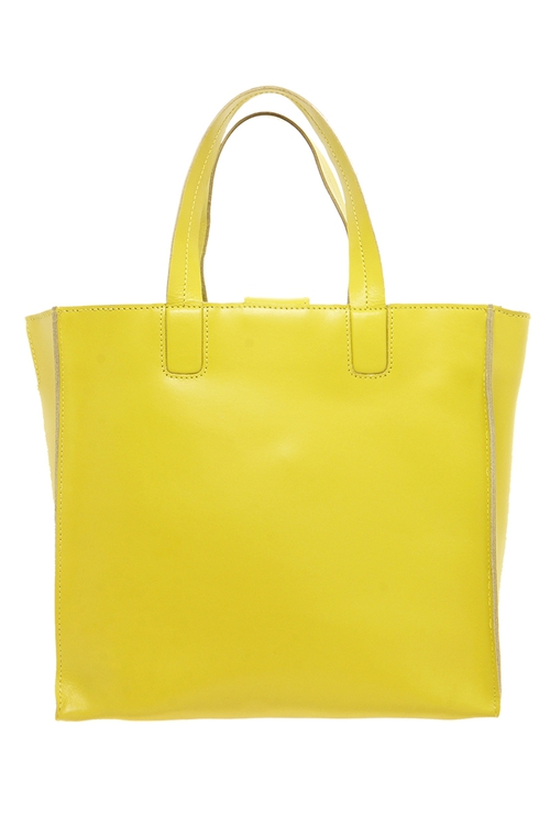 boohoo boutique Mia Leather Box Day Bag Lime €60