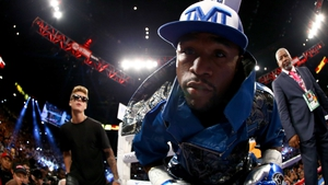 Justin Bieber made his way on to Floyd Mayweather's self-styled entourage known as the 'The Money Team' for the fighter's encounter against Saul Alvarez