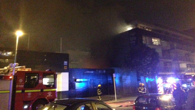 Five units of the Dublin Fire Service attended the scene (Pic: Sinead Morris)