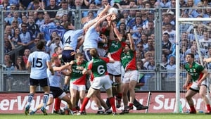 Dublin and Mayo in action during the 2012 All-Ireland semi-final