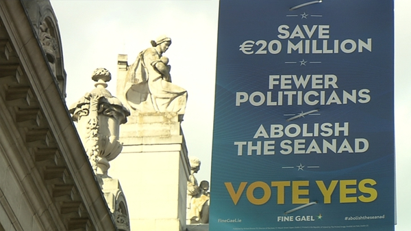 Fianna Fáil disputes Fine Gael's claims that the abolition of the Seanad will save €20m