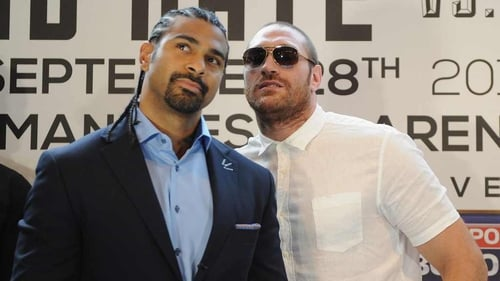 David Haye and Tyson Fury will not meet next Saturday