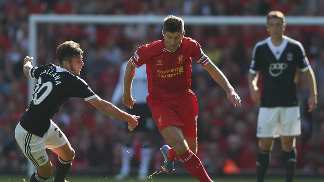 Steven Gerrard was below-par for Liverpool as they were beaten at Anfield