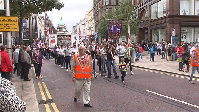 It was part of the ongoing protests over the Union flag issue and the re-routing Orange Order parades