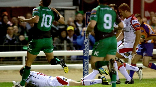 Paddy Jackson touches down for Ulster as the province got off the mark in this season's Pro12