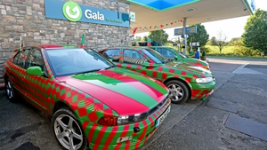 Cars in the colours of Mayo are Croke Park bound