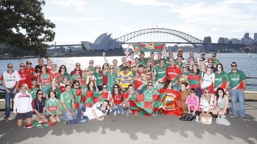 Mayo fans all geared up in Sydney, sent in by Gerry Smyth