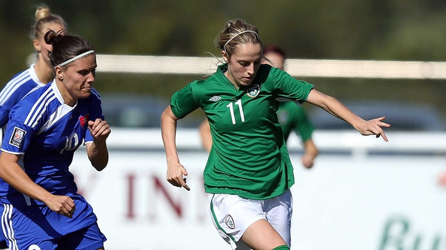 Julie-Anne Russell gave Ireland the lead early in the second half