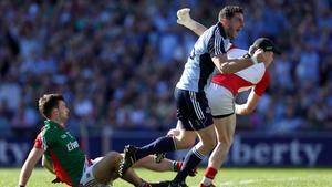 Bernard Brogan celebrates scoring Dublin's first-half goal