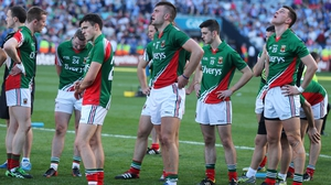 Dejection again for Mayo footballers at the end of the All-Ireland final