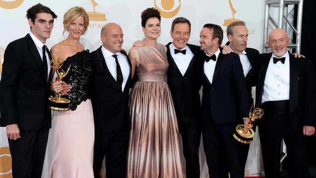 Breaking Bad - Stars celebrate winning Best Drama