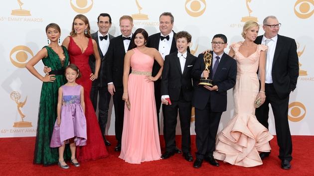 The award winning cast of Modern Family