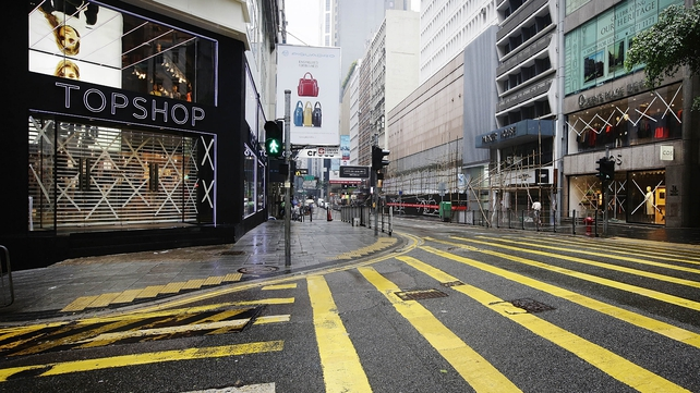 Hong Kong's CBD was largely empty this morning