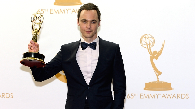Jim Parsons with his Emmy at last year's ceremony