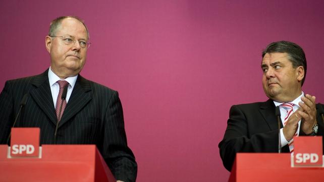 Peer Steinbrueck's SPD secured only 25.7% of the vote