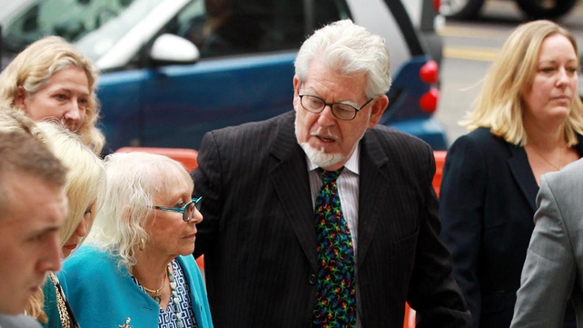 Rolf Harris was accompanied to court by his wife Alwen