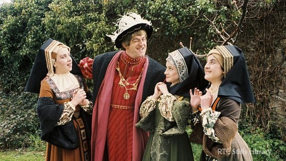 Dermot Morgan as King Henry VIII but who are his wives?