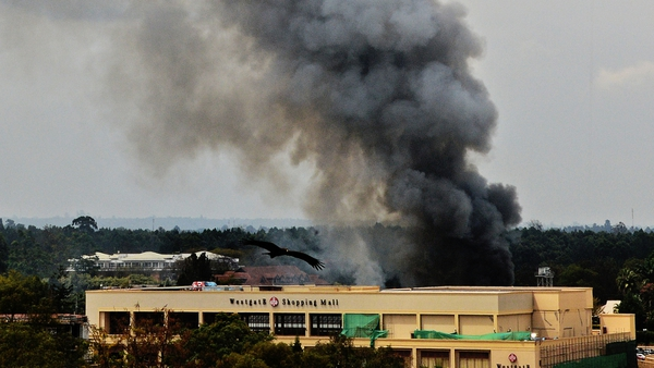 Several blasts were heard in the area around the Westgate centre