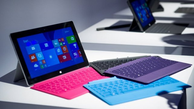 Sales of Microsoft's Surface tablet have begun to pick up but remain low compared with its rivals