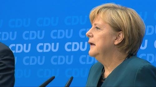 Angela Merkel said that things are improving in Ireland