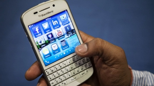 Blackberry said that revenue from smartphone sales also rose for the first time in four quarters