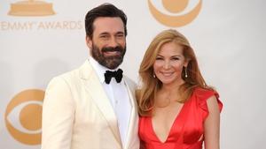 Jon Hamm and partner Jennifer Westfeldt at Sunday night's Emmys