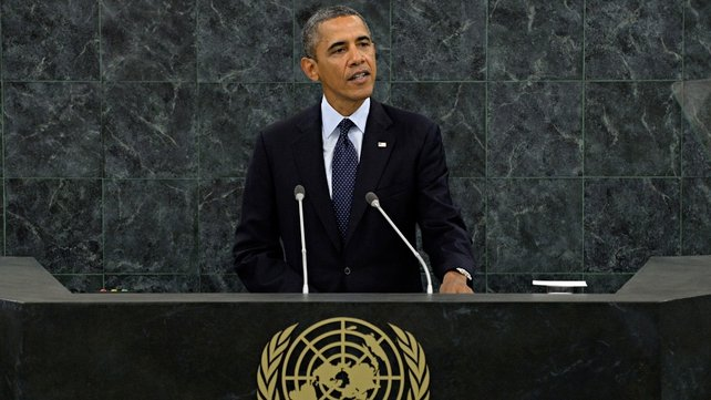 Barack Obama addressed world leaders at the United Nations