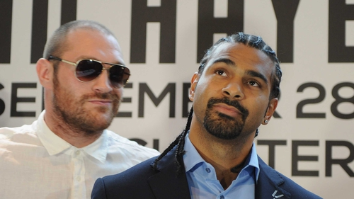 Tyson Fury and David Haye fight was called off after Haye suffered a deep cut while sparring