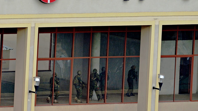 Troops moved floor-by-floor through the shopping centre