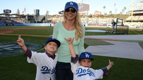 Britney Spears with sons Jayden and Sean