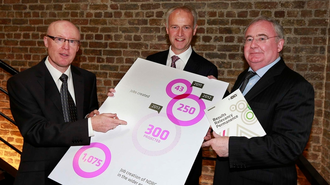 Pat Rabbitte (right) said the Government is committed to investing in Ireland's knowledge economy