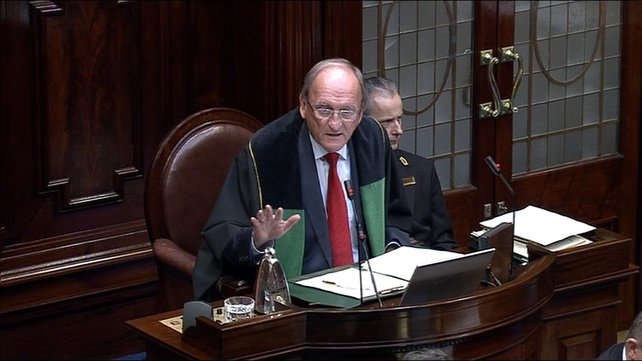 Ceann Comhairle Sean Barrett described the situation as a 'shambles'