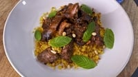 Lamb Neck, Yoghurt with Cucumber and Mint, & Golden Couscous - A delicous slow-cooked dish from Rachel Allen