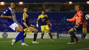 Matt Green slots the ball home from close range