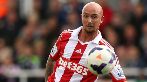 Stephen Ireland opened his scoring account for Stoke