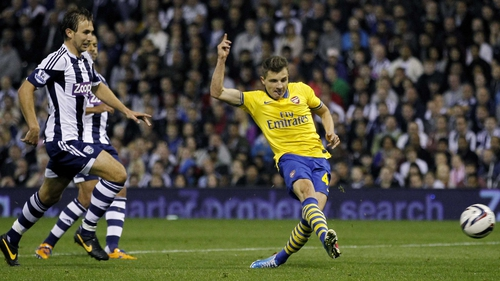 Thomas Eisfeld finds the net for Arsenal