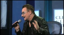 Bono does Bill Clinton impression