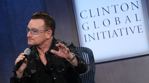 Bono's impersonation went down well with the audience