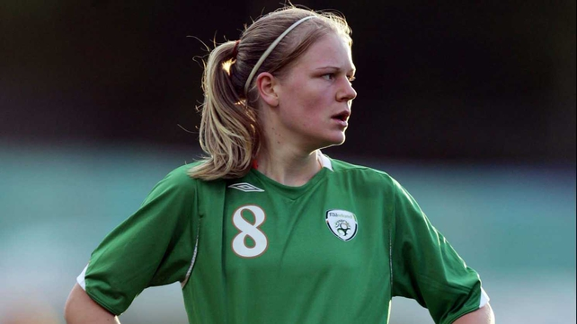 Diane Caldwell was initially credited for Ireland's equaliser