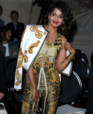 M.I.A. in Versace Haute Couture