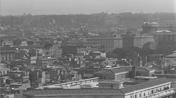 Roman Skyline from St Peter's Basilica, Vatican City  © RTÉ Archives 2045/097
