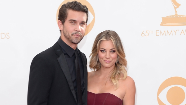 Kaley Cuoco and fiancé Ryan Sweeting