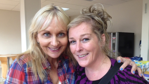 Miriam O'Callaghan with Katherine Lynch today in Radio 1