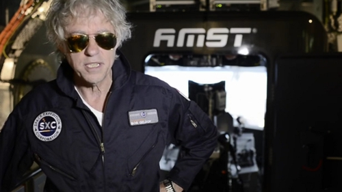 Bob Geldof said: 'Elvis may have left the building, but Geldof has left the planet' (Pic: Space Expedition Corporation)